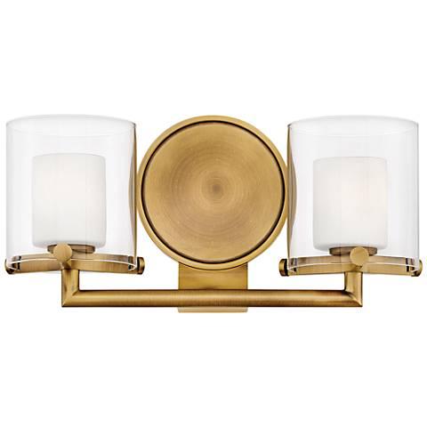 "Hinkley Rixon 7"" High Heritage Brass 2-Light LED Wall Sconce"