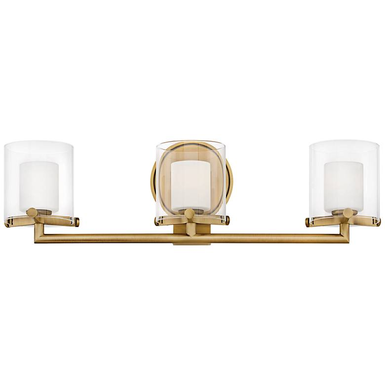 "Hinkley Rixon 24"" Wide Heritage Brass 3-Light Bath Light"