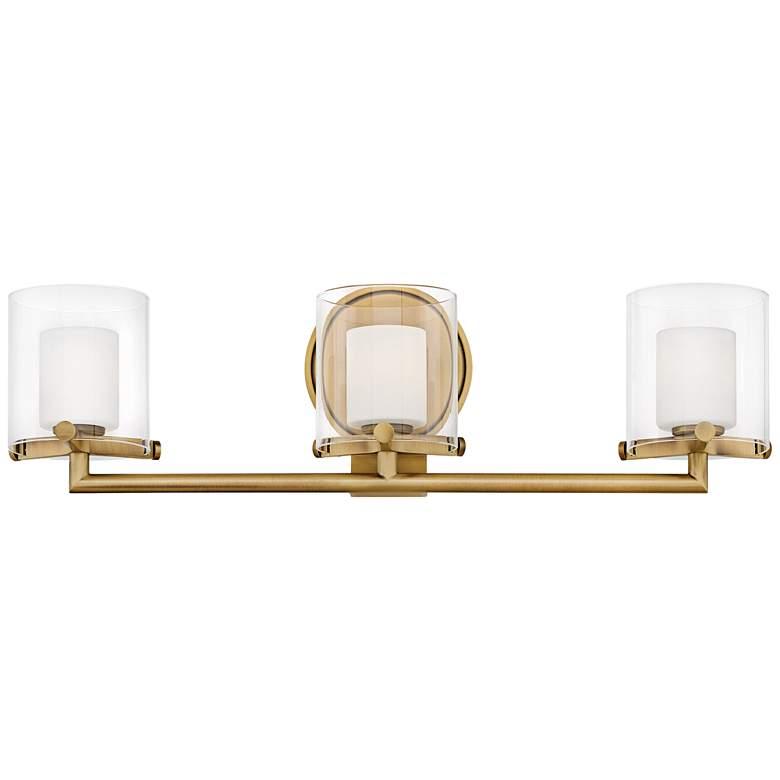 "Hinkley Rixon 24"" Wide Heritage Brass 3-Light LED Bath Light"