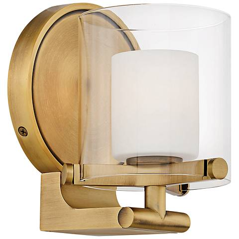 "Hinkley Rixon 7"" High Heritage Brass Wall Sconce"
