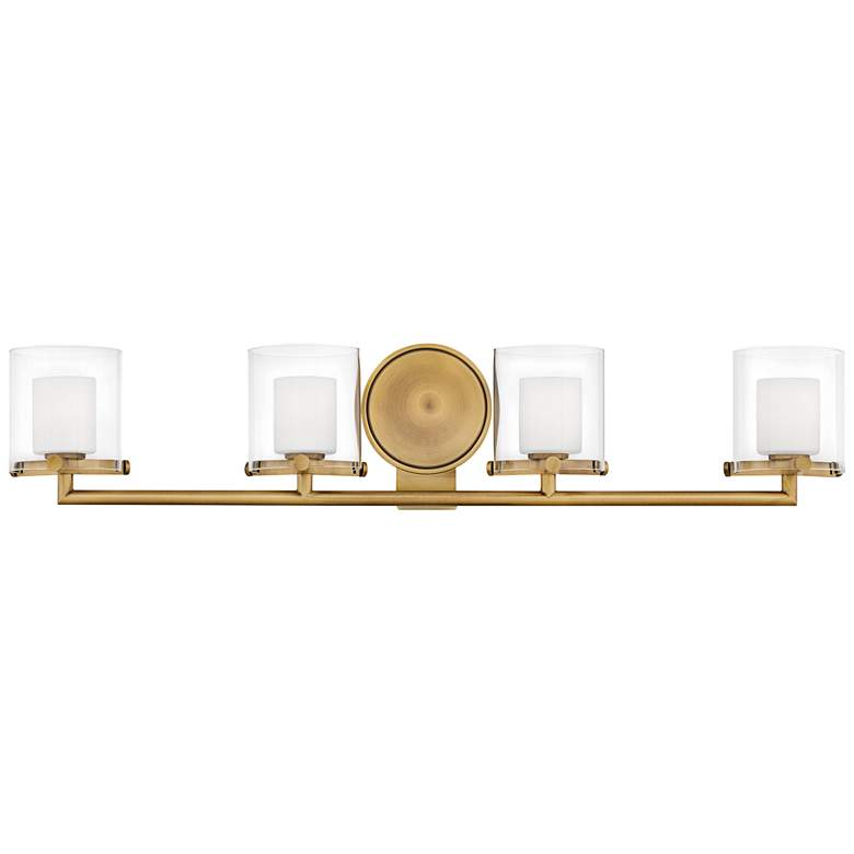 "Hinkley Rixon 33 3/4"" Wide Heritage Brass 4-Light Bath Light"