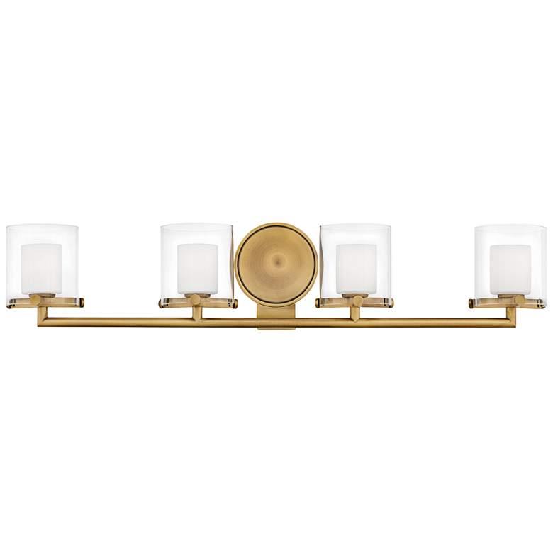 "Hinkley Rixon 33 3/4""W Heritage Brass 4-Light LED Bath Light"