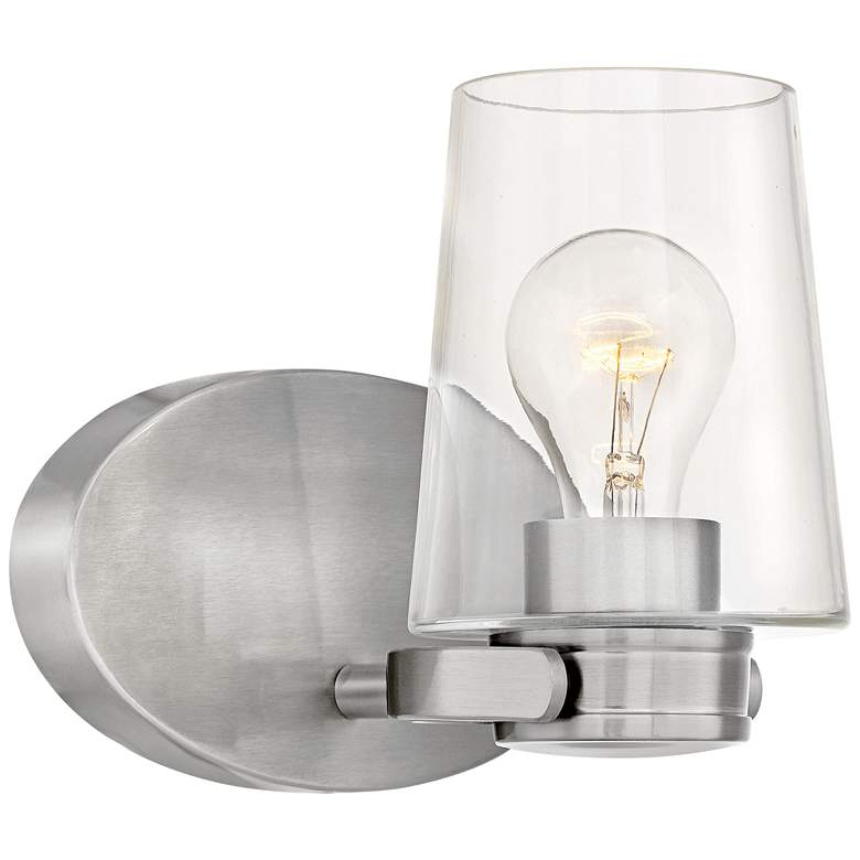 """Hinkley Branson 7 1/4"""" High Brushed Nickel Wall Sconce"""