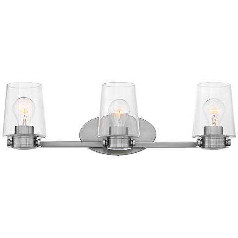 hinkley branson 24 1 4 w brushed nickel 3 light bath light 44m51