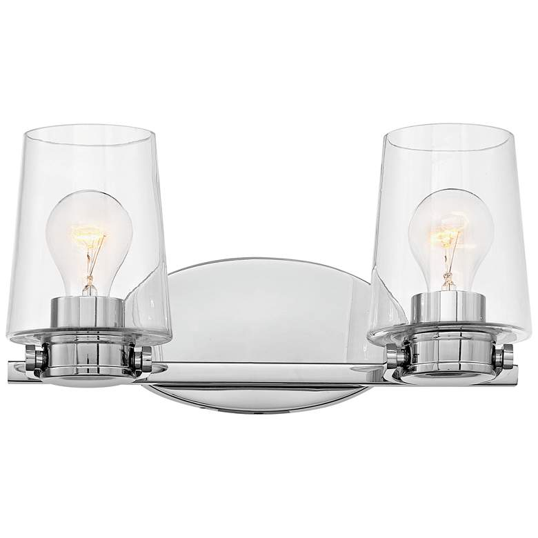"Hinkley Branson 7 1/4"" High Chrome 2-Light Wall"
