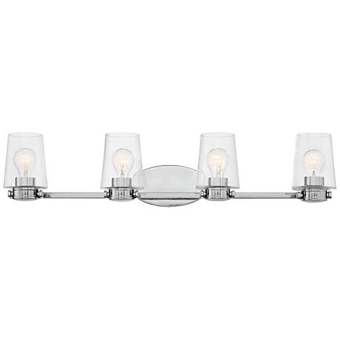"Hinkley Branson 34"" Wide Chrome 4-Light Bath Light"