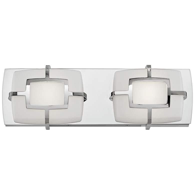 "Hinkley Sisley 5""H Polished Nickel 2-Light LED Wall Sconce"