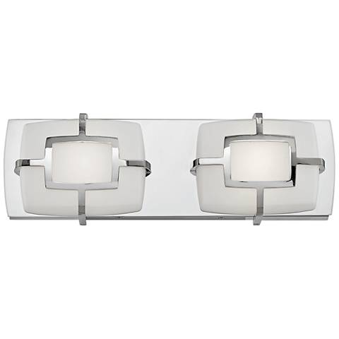 "Hinkley Sisley 5""H Polished Nickel 2-Light LED Wall Sconce"