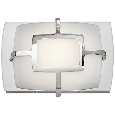 "Hinkley Sisley 5"" High Polished Nickel LED Wall Sconce"