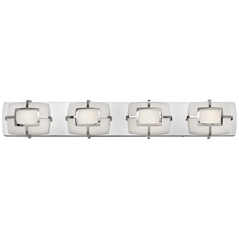 "Sisley 29 3/4"" Wide Polished Nickel 4-Light LED Bath Light"