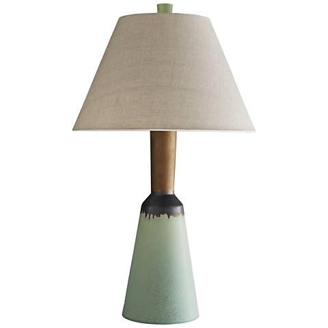 Arteriors Home Karol Pistachio and Bronze Glaze Table Lamp