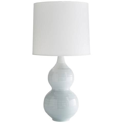 Arteriors Home Lacey Ice Blue Glaze Ceramic Table Lamp