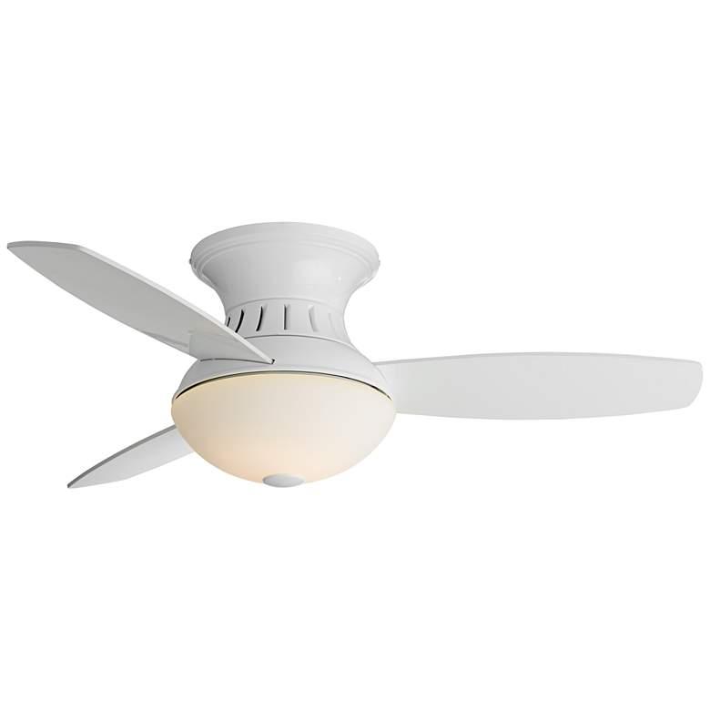 "44"" Possini Euro Encore White Hugger LED Ceiling Fan"