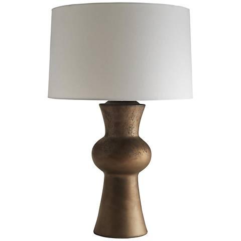 Gordon matte bronze reactive glaze ceramic table lamp