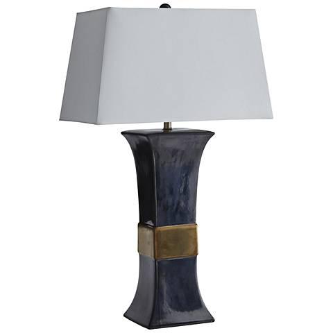 Arteriors Home Khaled Dark Gunmetal Table Lamp