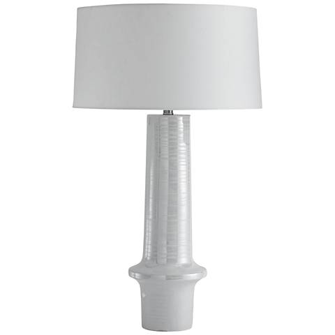Arteriors Home Kairo Glossy Pearl Ceramic Table Lamp