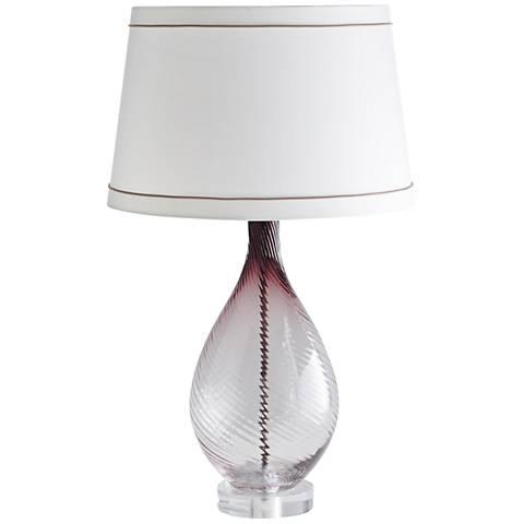 Arteriors Home Kiki Ombre Boysenberry Glass Table Lamp