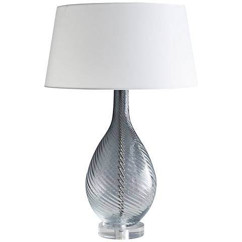 Arteriors Home Kiki Ombre Smoke Glass Table Lamp