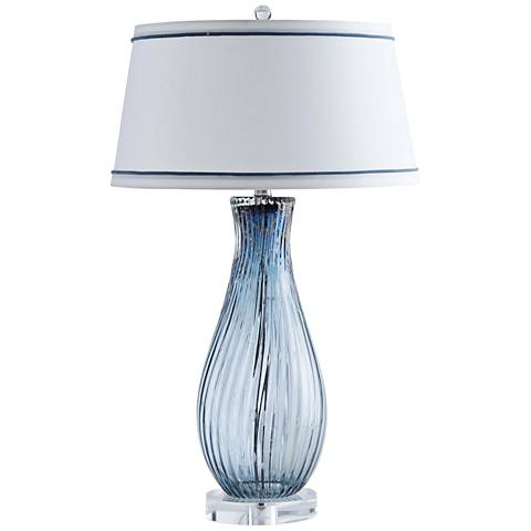 Kali Sapphire with Metallic Highlights Glass Table Lamp