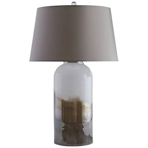 Johan Opal and Metallic Bronze Glaze Glass Table Lamp