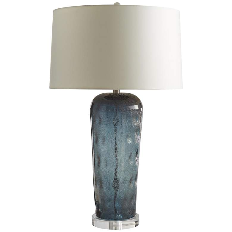 Lainey Sapphire with Metallic Bubble Highlights Table Lamp