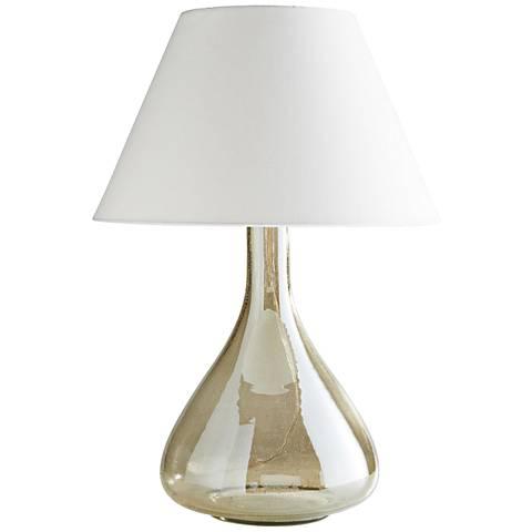 Arteriors Home Kaylan Seedy Smoke Luster Glass Table Lamp