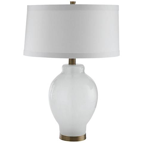 Arteriors Home Lyla Opal Seedy Glass Table Lamp