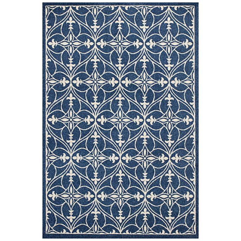 "Lucia 2755 5'3""x7'7"" Denim Bentley Indoor-Outdoor Area Ru"