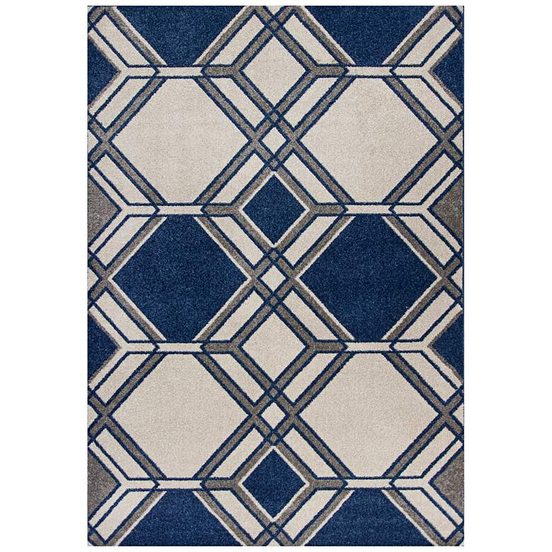 """Lucia 2768 5'3""""x7'7"""" Ivory and Denim Grant Outdoor Area R"""