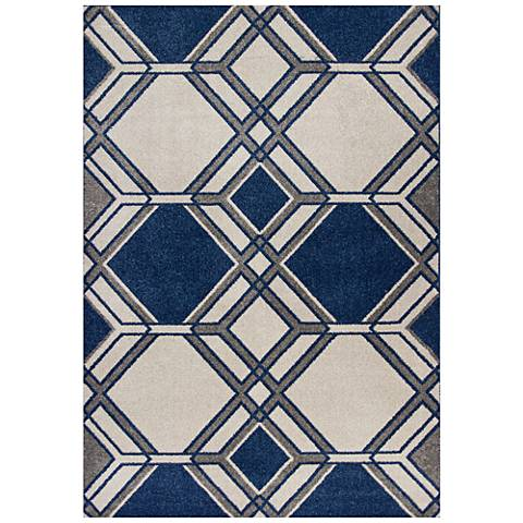 Lucia 2768 Ivory and Denim Grant Outdoor Area Rug