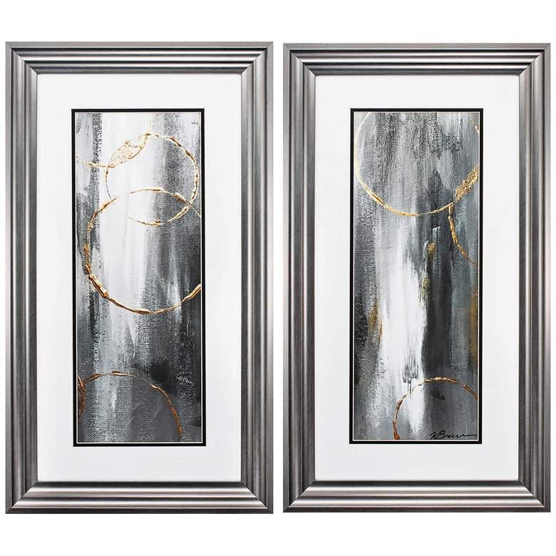 """Gray Matter 27"""" High 2-Piece Framed Wall Art Set"""