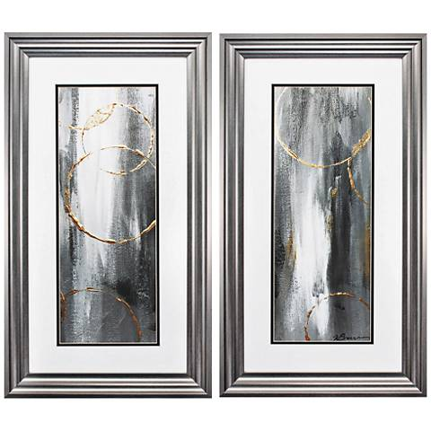 "Gray Matter 27"" High 2-Piece Framed Wall Art Set"