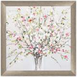 """Spring Bouquet 30"""" Square Framed Wall Art"""