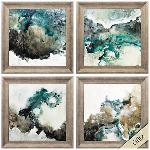 "Next Wave 22"" Square 4-Piece Framed Wall Art Set"