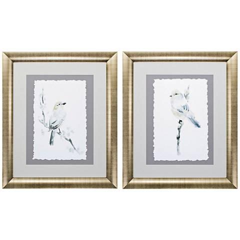 """Avian Impressions 29"""" High 2-Piece Framed Wall Art Set"""