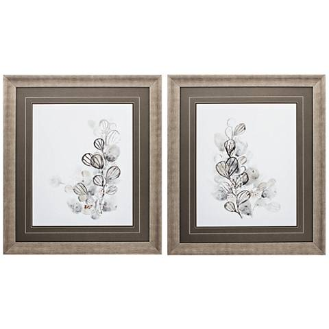 "Neutral Botany 32"" High 2-Piece Framed Wall Art Set"