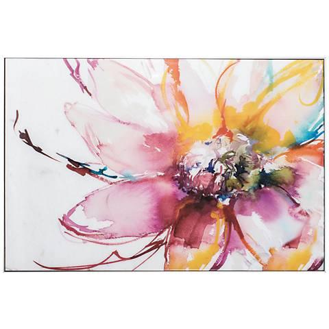 """Flower Burst 36"""" Wide Framed Wall Art"""