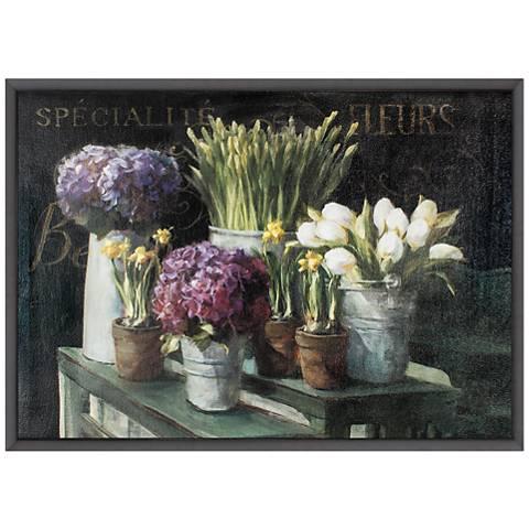 "Les Fleurs Printemps 36"" Wide Framed Canvas Wall Art"