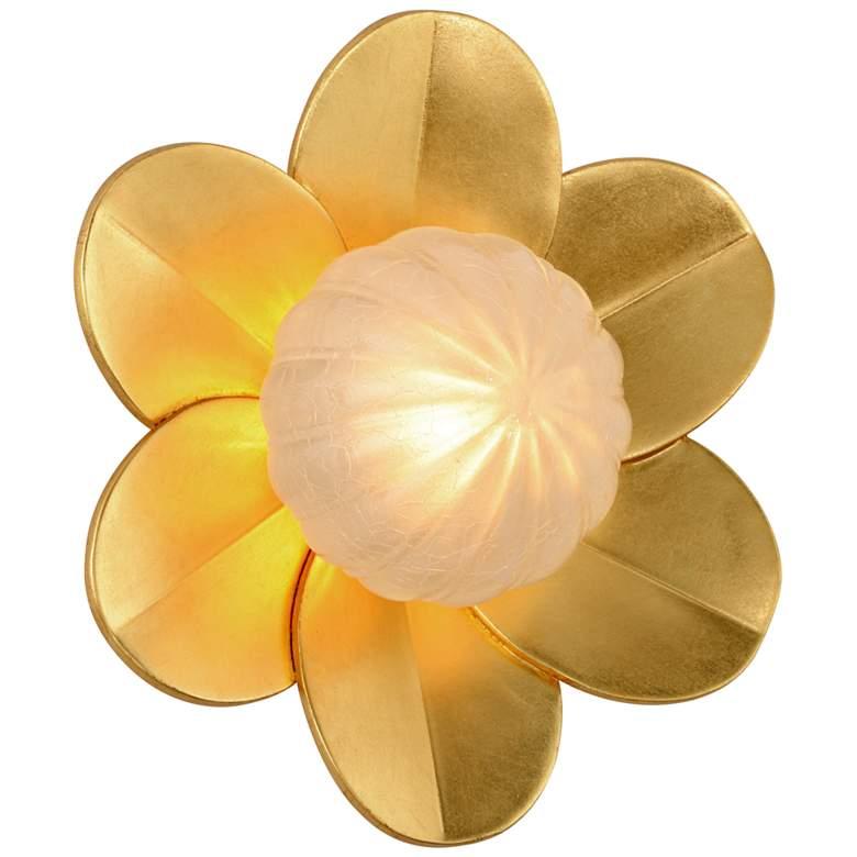 "Corbett Gigi 10"" High Gold Leaf LED Wall Sconce"