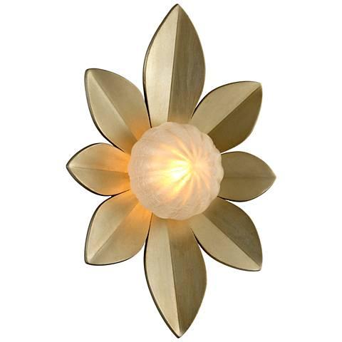 """Corbett Gigi 15"""" High Silver Leaf LED Wall Sconce"""