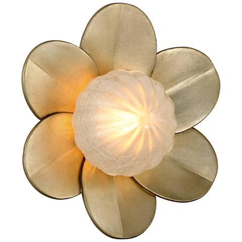 """Corbett Gigi 10"""" High Silver Leaf LED Wall Sconce"""