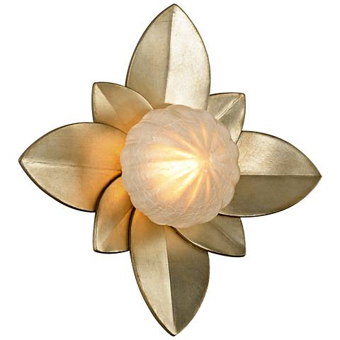 "Corbett Gigi 12"" High Silver Leaf LED Wall Sconce"