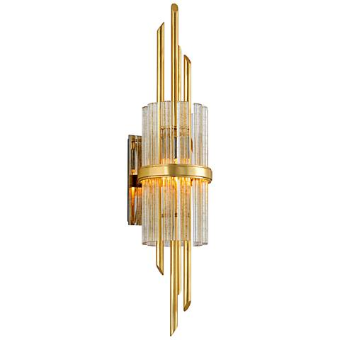 "Corbett Symphony 28 3/4"" High Gold Leaf Wall Sconce"