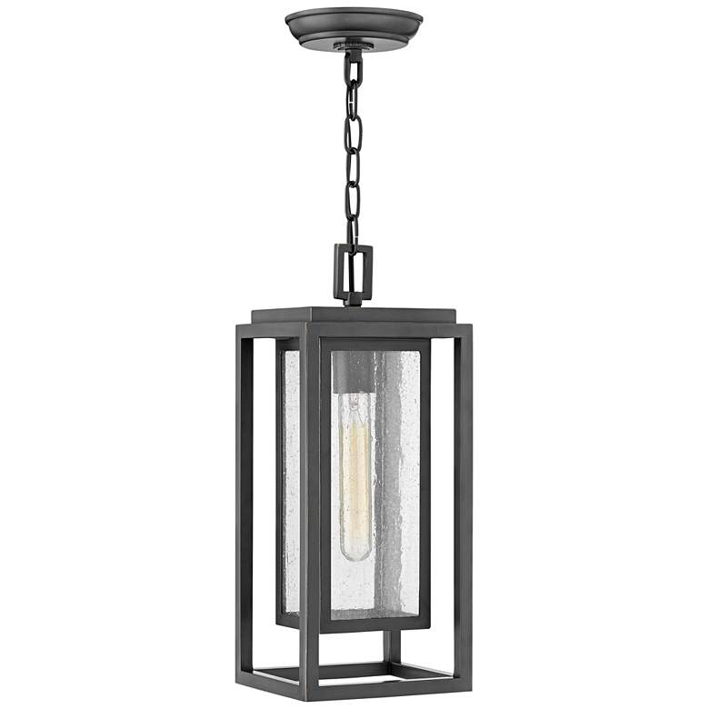 """Republic 16 3/4""""H Oil-Rubbed Bronze Outdoor Hanging Light"""