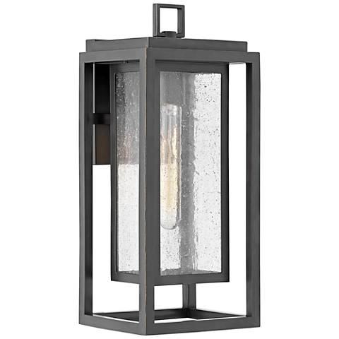 """Hinkley Republic 16""""H Oil-Rubbed Bronze Outdoor Wall Light"""