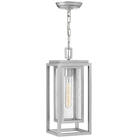 "Hinkley Republic 16 3/4""H Satin Nickel Outdoor Hanging Light"