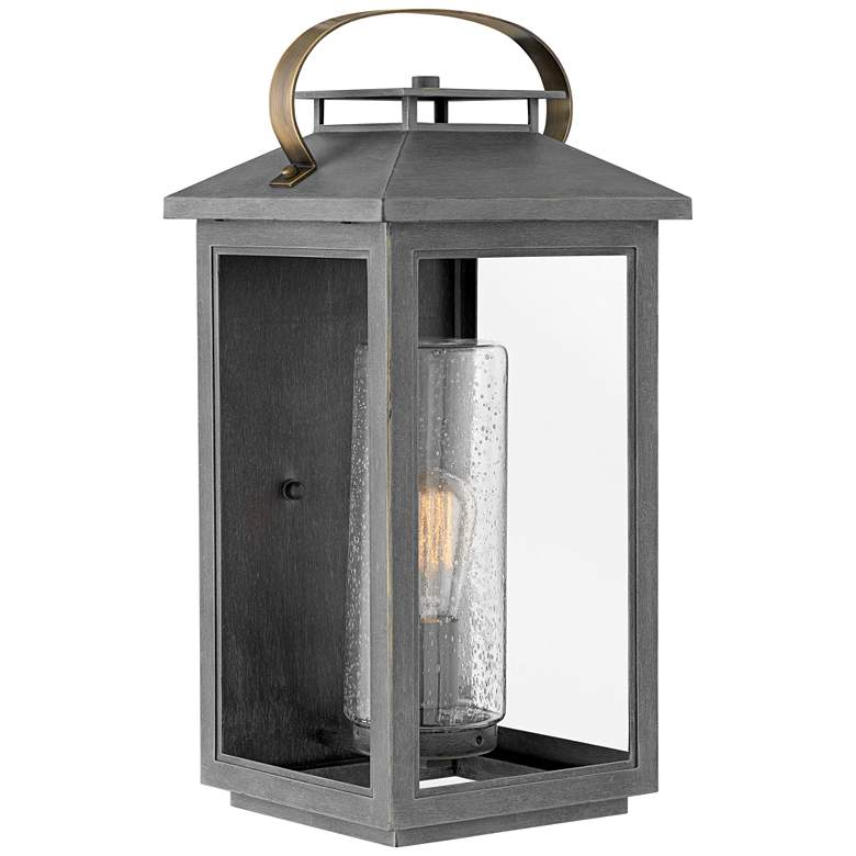 """Hinkley Atwater 20 1/2"""" High Ash Bronze Outdoor Wall Light"""
