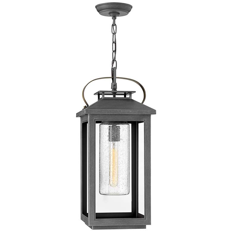 """Hinkley Atwater 21 1/2""""H Ash Bronze Outdoor Hanging Light"""