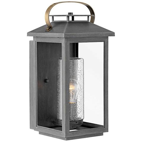 "Hinkley Atwater 17 1/2"" High Ash Bronze Outdoor Wall Light"