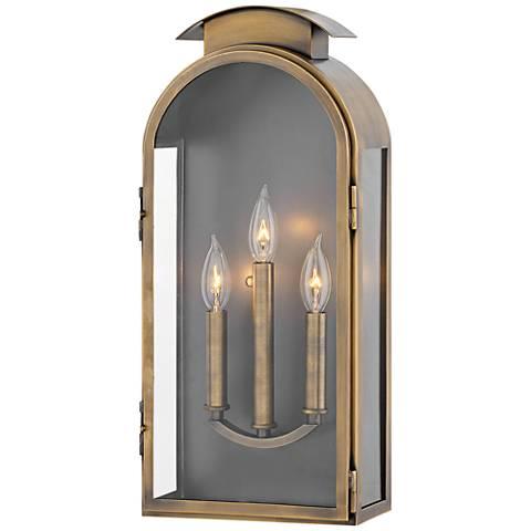 "Hinkley Rowley 21""H Light Antique Brass Outdoor Wall Light"